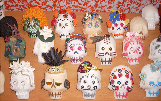 Making Sugar Skull